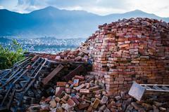 Blue Mountain Skyline and Bricks_Swayambhunath_Kathmandu_Web 1 (johann.kisaame) Tags: 2017 blue bricks cityscapes kathmandu mountains nepal red shrine sky skyline stupa sunlight swayambhunath temple sonyalpha6000 sony sonya6000 sel35f18 sel35 travel tourism asia a6000