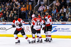"Kansas City Mavericks vs. Cincinnati Cyclones, February 3, 2018, Silverstein Eye Centers Arena, Independence, Missouri.  Photo: © John Howe / Howe Creative Photography, all rights reserved 2018. • <a style=""font-size:0.8em;"" href=""http://www.flickr.com/photos/134016632@N02/40086496852/"" target=""_blank"">View on Flickr</a>"