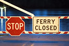 STOP (Curtis Gregory Perry) Tags: buena vista ferry sign stop closed willamette river night long exposure nikon d810 water blue hour gate