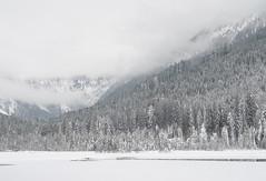 Jägersee (wanda.w) Tags: austria österreich salzburg jägersee berge schnee winter talv lumi fog foggy natur nature weis white wald trees lake water ice