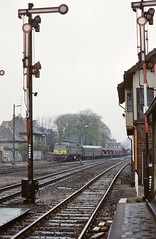 Forst DR  |  1989 (keithwilde152) Tags: st44 forst dr ddr east germany 1989 station tracks semaphore signals freight train pkpdr border crossing diesel locomotives outdoor spring