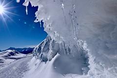 Winter hiking (sylviafurrer) Tags: winter schnee snow mountain berge blau blue white weiss landschaft wallis valais switzerland eis ice landscape montagne neige