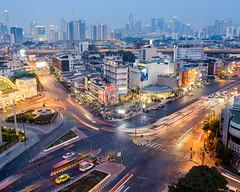 Bangkok Skyline (Kristaaaaa) Tags: thailand travel bangkok skyline city cityscape scene longexposure fuji xt2 buildings dusk urban lights fujilove traveller travelphotography nomad wanderlust photo asia photograph southeastasia adventure fujifilm fujix fujixseries fujixt2 color colour colourful colorful