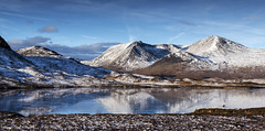 Winter's beauty. (lawrencecornell25) Tags: landscape waterscape scenery scotland scottishhighlands rannochmoor lochnhachlaise reflections winter cold mountains snow nikond5