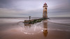 Good times (Einir Wyn Leigh) Tags: seascape fun walking beach lighthouse wales cymru reflection light water sea ocean sand sky outside pleasure colorful old child coast