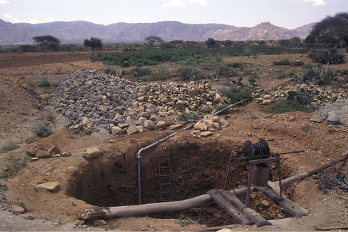 Well excavated with dynamite, Eritrea