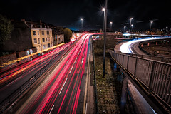 Hotwell Road, Bristol, UK (KSAG Photography) Tags: lighttrails city urban trails lights road street landscape longexposure hdr night nightphotography skyline bristol avon river somerset europe england unitedkingdom nikon november 2017 autumn wideangle