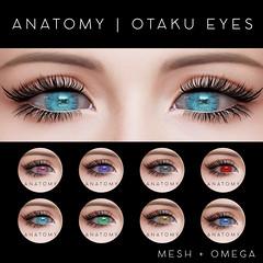 ANATOMY | OTAKU EYES @ BLUSH (daeberethwen) Tags: anatomy eyes secondlife