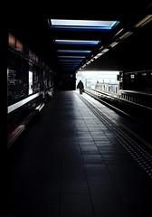 12:16 (frax[be]) Tags: streetphotography street subway metro station highcontrast silhouette atmosphere 28mm rokkor fuji xe3 urban indoor dark
