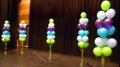 trossen van 15 heliumballonnen