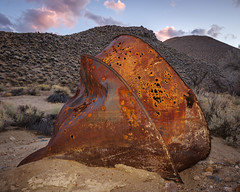 Rusty Whatsit (dwblakey) Tags: california ghosttown owensvalley desert easternsierra bishop history tungstenhills mining rust outdoors junk clouds unitedstates us