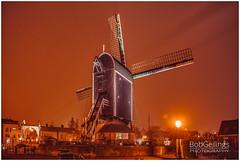 "Windmill ""De Put"" (BobGeilings.nl) Tags: windmill windmills leiden night nightphotography old coloredlight colorsofthenight city"