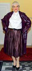 Ingrid025833 (ingrid_bach61) Tags: coat mantel ruffledblouse rüschenbluse pleatedskirt plisseerock