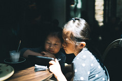 Coffee Break. (MichelleSimonJadaJana) Tags: color sony ilce7rm2 α a7rii a7r ii full frame emount femount nex fe sel35f14z distagon t 35mm f14 za vsco documentary lifestyle snaps snapshot portrait childhood children girl girls kid jada jana sydney australia 澳大利亞 澳洲 悉尼