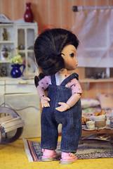 Jeans overalls for 16 cm bjd dolls. (Bayle.V.) Tags: jeans jeansoutfit tinybjd bjdtiny lati latidress latiyellow aquariusdoll jeanssundress overalls sundress bjd bjddoll bjdoutfit bjddress bjdclub bjdoveralls