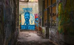 If all graffiti was like this, I would like it... sometimes ;-) (‹ Wim ›) Tags: graffiti liege luik fortdelachartreuse urbex belgië charlesmichel ministerpresident blue abandoned wimgoedhart dark colours painting wall ©wimgoedhart