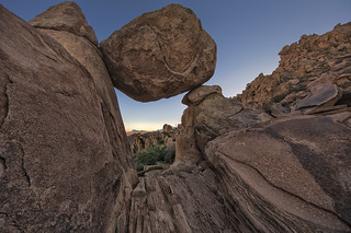 Balanced Rock and The Chisos Mountains