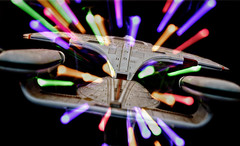 "Week 8 - Zoom Burst: ""Engage"" (Caleb McCary) Tags: dogwood2018 dogwood2018week8 zoom burst star trek enterprise toy next generation canon eos80d canon1635 teamcanon canonbringit warp hyperspace lightspeed"