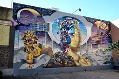 Omaggio a Eleonora d'Arborea (collage42 -Pia-Vittoria//) Tags: sardegna sardinia cerdena andreameli murales streetart eleonoradarborea sangavino nikond90