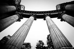 "Monday's JBP Photo of the Day! ""Columns within the Palace of Fine Arts - Black & White"" (Joe Boyle Photography) Tags: columns column fine art arts palace california san francisco jbpphotooftheday"