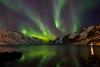 aurora in the fjord (John A.Hemmingsen) Tags: aurora borealis nordlys northernlight arcticlight tromsø ersfjordbotn sky stars water winter astronomy snow fujifilm fjord landscape longexposure reflection colors