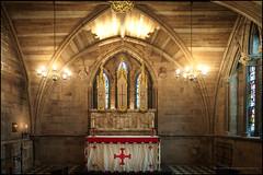 Lichfield cathedral chapel (G. Postlethwaite esq.) Tags: litchfield sonya7mkii sonyalphadslr staffordshire arches candles cathedral chapel fullframe lights mirrorless photoborder stainedglass windows