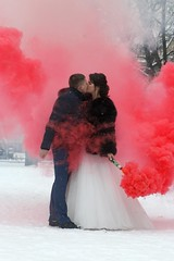 Russian Wedding (Taracy) Tags: st isaacs cathedral saint petersburg russia snow cold newlyweds married couple wedding