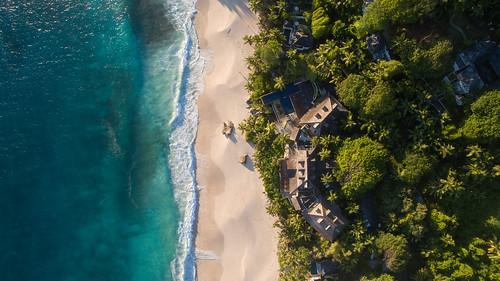 Aerial of Anse Intendance Mahe Seychelles