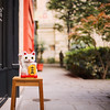 Have a great week! (ninasclicks) Tags: cat street bokeh dof manekineko miniblocks toy kitten