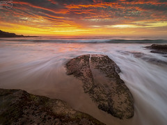 Sunday Sunrise (Funktacula Fotography) Tags: australia anawesomeshot abigfave beach beautiful clouds cloud colorphotoaward colours cloudporn cloudsstormssunsetssunrises coastline diamondclassphotographer dawn sydney redsky outdoor golden landscape explore em1markii flickrdiamond firstlight finest megashot sky rocks longexposure movement motion morning naturesfinest natures nsw ocean olympus outstandingshot surf sun sunrise autumn tranquility waves waterandlight water worldbest