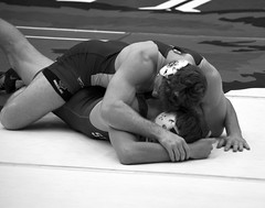 BRO-STA 149 2018-01-13 DSC_8185 bw (bix02138) Tags: brownuniversity brownbears stanforduniversity stanfordcardinal pizzitolasportscenter pizzitolasportscenterbrownuniversity providenceri january13 2018 wrestling sports intercollegiateathletics athletes jocks ©2018lewisbrianday 149pounds 149 zachkrause jakebarry
