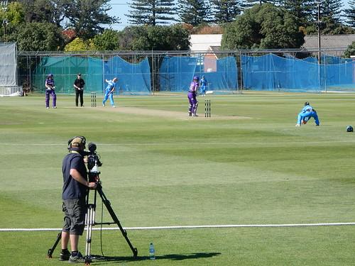 Filming Big Bash Cricket