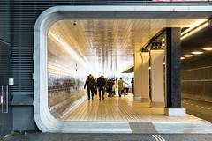 Passage (genf) Tags: centraal central station amsterdam pedestrian passage voetgangerspassage licht light yellow geel composition compositie people sony a99ii outdoor