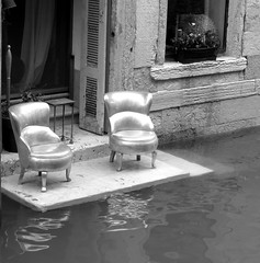Silver Chairs (VonHodes) Tags: silver chairs venice italy canal water chair outside wet furniture italian italia sedie dargento beautiful unusual odd sedia venezia