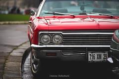 Chevrolet Impala (antoinedellenbach.com) Tags: worldcars classic car racing circuit france canon eos automotive classiccars automobiles vintage automobile sport festival lightroom usm coche detail paris frenchcar traverseedeparis musclecar ponycar 6d 70200 chevrolet chevy impala