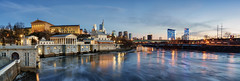 Philadelphia Art Museum - panoramic (Brentg33) Tags: ifttt 500px landscape city water downtown river blue night architecture cityscape sony panorama landscapes alpha long exposure panoramic lightroom architectural nightfall hour urban exploration nightscape philadelphia philly phila
