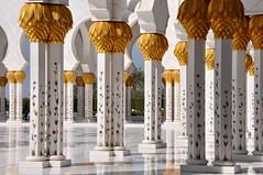 La Grande Mosquée Sheikh Zayed (Docaron) Tags: emirats emirates abudhabi aboudabi aboudhabi aboûdabî أبوظبي mosquée mosque architecture islam sheikhzayed colonne column marbre marble or gold blanc white dominiquecaron islamicdesign uae szgm