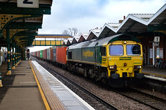 66505 - March - 03/02/18. (TRphotography04) Tags: freightliner 66505 passes through march working 1014 felixstowe north flt crewe bas hall ssm