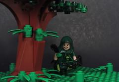 Forest Run (-Metarix-) Tags: lego green arrow super hero dc comics comic oliver queen jungle custom archer hunt trees forest lian yu island