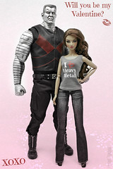 I ❤ Heavy Metal (MARVEL_DOLLS) Tags: fashionroyalty fr integrity jasonwu scenestealerisha ssisha ishakalpananarayanan shadowcat kittypryde colossus peterrasputin toysera thesteel 16scale actionfigure marvel comicbookcharacter xmen superhero superheroine deadpool ooakdollclothing fraue hazelstreetdezigns dolljeans whoswho blackshoes valentinesday 2018 willyoubemyvalentine love heart heavymetal