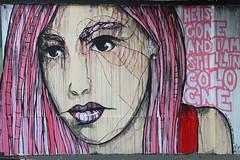 El Bocho He is gone and I am still in Cologne (Marco Braun) Tags: streetart graffiti schwarz colourful coloured farbig bunt couleures face gesicht opart 2015 walart urbanart elbocho schablone pochoire stencil köln cologne girl mädchen frau femme women black white weiss blanche noire rot rosso rouge berlin deutschlandgermanyallemagne