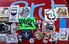 streetart in amsterdam (wojofoto) Tags: amsterdam streetart graffiti nederland netherland holland wojofoto wolfgangjosten stickers stickerart stickercombo sticker wojo ndsm