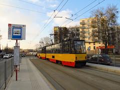 Konstal 105N2k, #2014+2015, Tramwaje Warszawskie (transport131) Tags: tram tramwaj tw ztm warszawa wtp warsaw konstao 105n 105n2k