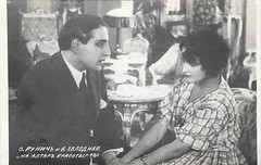 Ossip Runitsch and Vera Kholodnaya in Na altar krasoty (1917) (Truus, Bob & Jan too!) Tags: ossiprunitsch ossip runitsch russian actor verakholodnaya vera kholodnaya actress silent cinema film cine kino picture screen movie movies filmster star icon legend vintage postcard carte postale cartolina tarjet postal postkarte postkaart briefkarte briefkaart ansichtskarte ansichtkaart naaltarkrasoty 1917