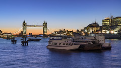 Sitting On The River In London (JH Images.co.uk) Tags: london towerbridge hdr dri riverthames bridge boats architecture water