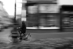 bike city (nancy_rass) Tags: bike panning fast blur motion grayscale monochrome cycling vintage amsterdam