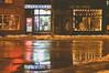 Guelph at Night (ildikoannable) Tags: reflection street guelph streetphotography night nightcity lights vintage haze rain water