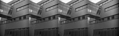 (von8itchfisk) Tags: blackandwhite architecture film 35mm ishootfilm analog vonbitchfisk multiexposure ipswich suffolk eastanglia suffolkcollege olympus om10 geometric noedit incamera