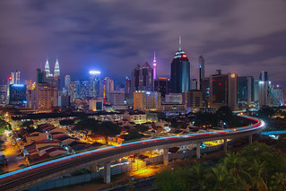 KL night Skyline