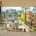 naive artist peisaj pictor oraș urban picturile de artă colorate de mari dimensiuni